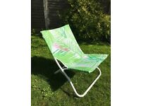 """John Lewis beach camping garden chair with carry handle """"Leaf White"""" BRAND NEW 3 available"""