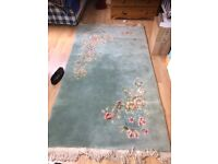 Chinese Style thick pile wool rug 7.3 x 4feet 220 x 120cm