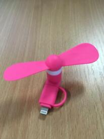 Cooling fan for iPhone / Samsung / Android phones (Southampton) - pink