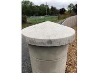 Concrete circular cap stone