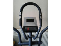Roger Black cross trainer exercise bike in silver and black, includes heart rate monitor