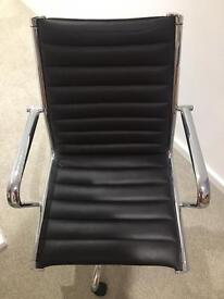 Leather office chair - practically unused!
