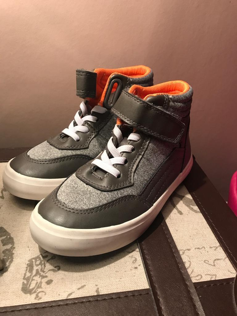 Boys size 10 high top trainer boots