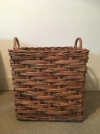 John Lewis Large hamper wicker basket log storage home decor