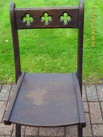 Wooden cross legged chair