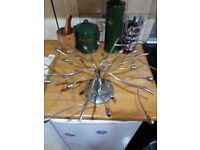Chrome Tree Branch Ceiling Light