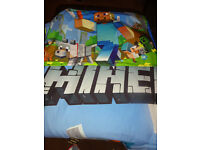 Very RARE MINECRAFT single duvet set - Excellent con very well made