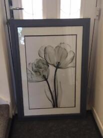 Grey framed picture