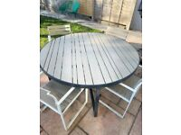 Garden Round 6 Seater Dining Table and Chairs