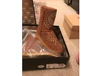 Tan uggs with studs in box £40