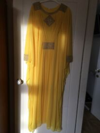 Yellow party abaya
