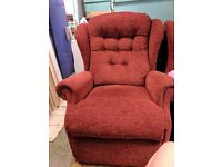 2 seater sofa, matching single armchair and matching recliner armchair