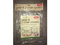 Garden Table & Two Chair Covers
