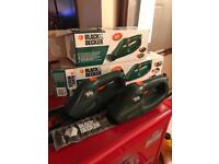 Hedge cutters battery operated like new in boxes