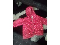 Girls coats age 1-1.5 and 2-3+ 9-12 mths
