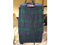 LADIES KILT AND MATCHING WAISTCOAT SIZE 12. BRILLIANT CONDITION - LOOKS NEW.