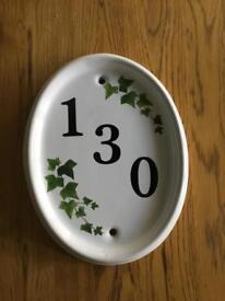 Ceramic house number