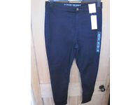 New Marks and Spencer short navy skinny high rise jeans size 14