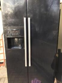 Black Neff American fridge freezer