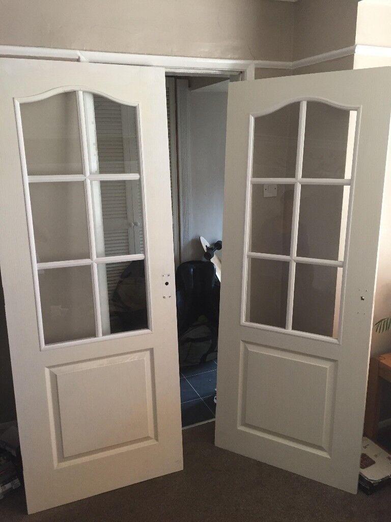 2 Glass Windowed Indoor Doors 20 For Both In Patchway Bristol