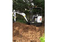 Mini digger with driver for hire in Coventry
