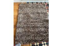 Brown shag rug