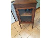 Display cabinet glass fronted old