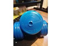 York 5kg dumbbells