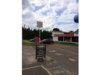 Car Sales Site with Showroom and Land To Rent
