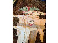 Bundle of baby girl clothes size 0-3 months. Smoke free home, excellent condition