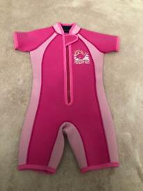 Jojo Maman Bebe-Childrens' COLOUR BLOCK WETSUIT Pink /size 1-2 years/ Collection Only Putney SW15
