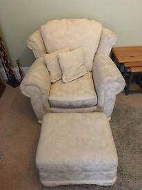 Comfy Armchair & Pouffe