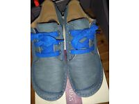 CLARK'S BRAND NEW SUEDE LACE UP SHOE, IN NUBUCK , NAVY SUEDE, SIZE 39 WIDE FIT D