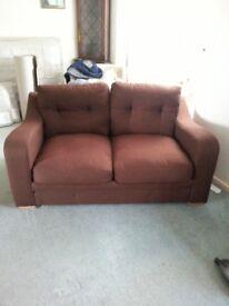 Brown 2 seater Sofa 2 Sofa Bed