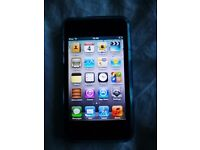 Ipod Touch 4th gen 64gb with blue case