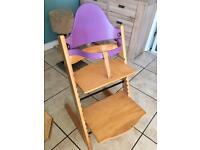 Stokke Tripp trapp wooden highchair