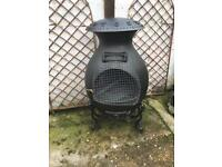 Large old cast iron chimnea garden decor furniture