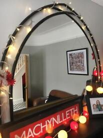 Black Over Mantel Mirror