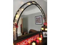 Black Over Mantel Mirror