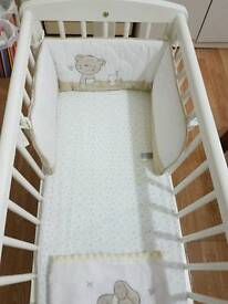 Mothercare Baby Swing Cot White