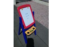 Childs easel with double sided flip over board n