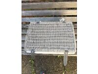 16 x Grey Wicker Baskets lined - suitable for picnics, storage, wedding etc