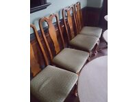 6 x high back dining room chairs with 2 carvers