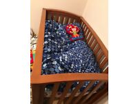 Large Cot bed with mattress
