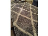 "Geometric design ultra luxurious 5.0""*8.0"" big size Rug.Made in Turkey.(Discounted for limited time)"