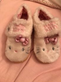 New with tags M&S hello kitty slippers , size 11