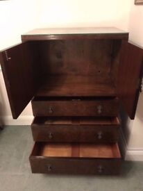 MID CENTURY TALL BOY / GENTLEMAN'S WARDROBE IN VERY GOOD CONDITION FREE LOCAL DELIVERY 07486933766