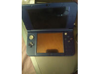 Nintendo NEW 3DS xl metallic blue with charger. 2017 model