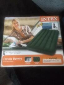Intex mattress Boxed comes With Foot Pump never used £8