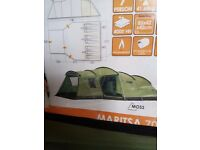 Vangor Marrista 700 tent 7 man tent 3 bedrooms living area fitted caroer plus more